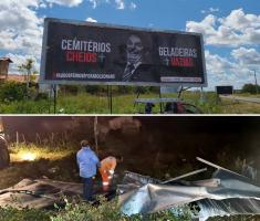 DNIT alega irregularidade e remove outdoor com crítica a Bolsonaro em Pau dos Ferros